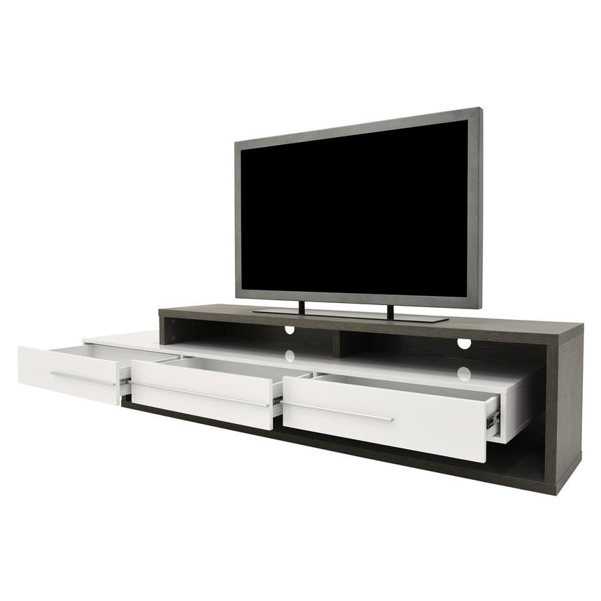 Avanti Gray/White TV Stand  alternate image, 3 of 7 images.
