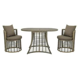 Neilina Brown 3 Piece Patio Bistro Set