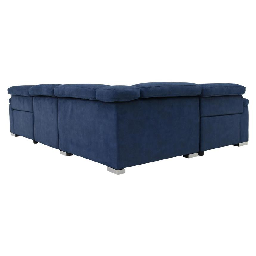Karly Blue Power Motion Sofa w/Right & Left Recliners  alternate image, 4 of 7 images.