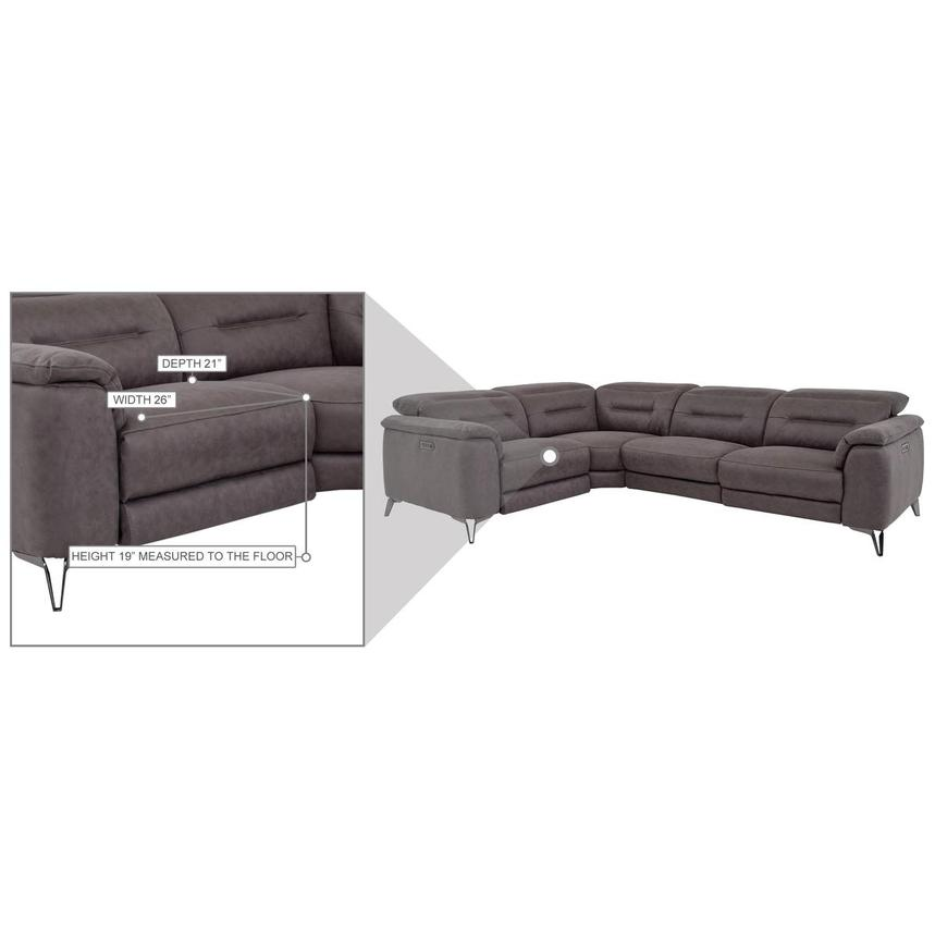 Claribel II Gray Power Reclining Sectional  alternate image, 9 of 9 images.