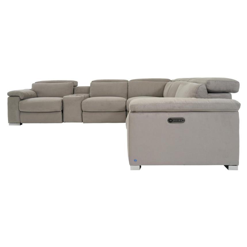 Cool Karly Light Gray Power Reclining Sectional Machost Co Dining Chair Design Ideas Machostcouk