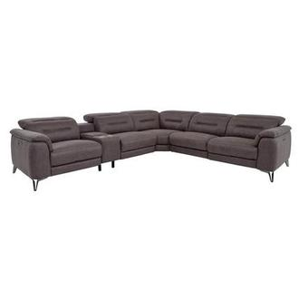 Claribel II Gray Power Reclining Sectional