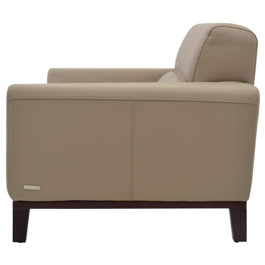 Milani Tan Leather Loveseat  alternate image, 3 of 6 images.