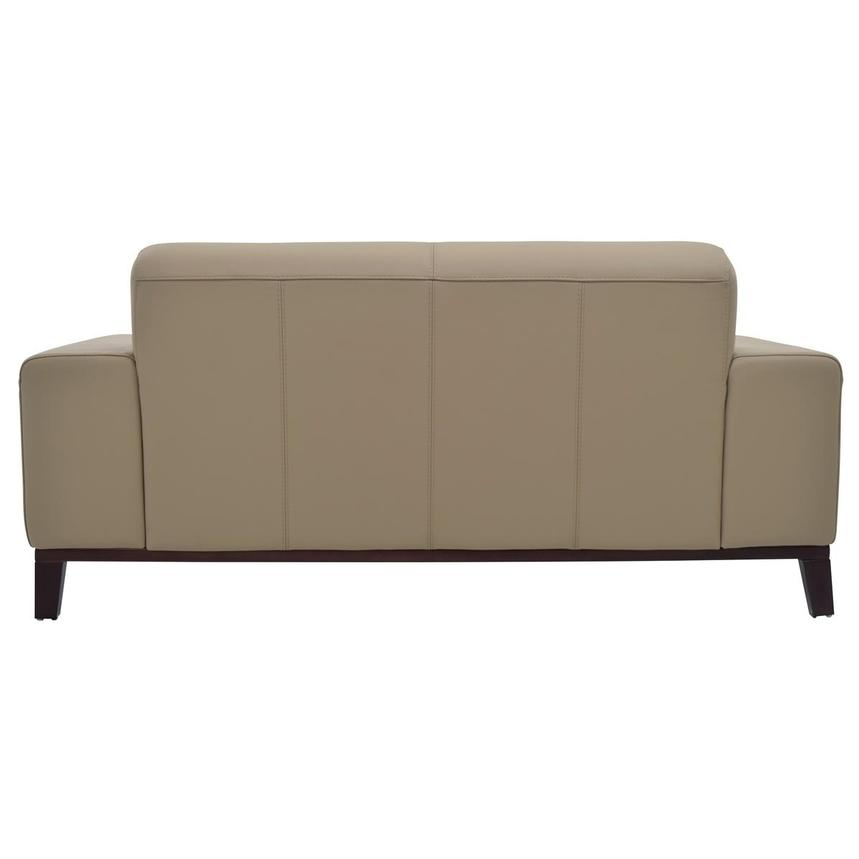 Milani Tan Leather Loveseat  alternate image, 4 of 8 images.