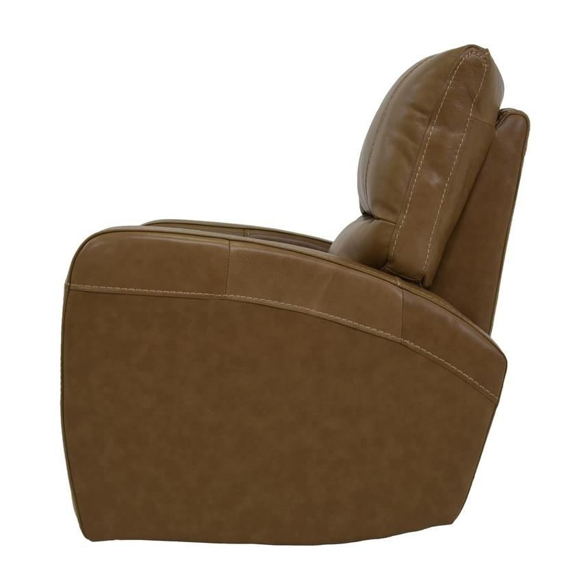 Keegan Tan Power Motion Leather Recliner  alternate image, 4 of 7 images.