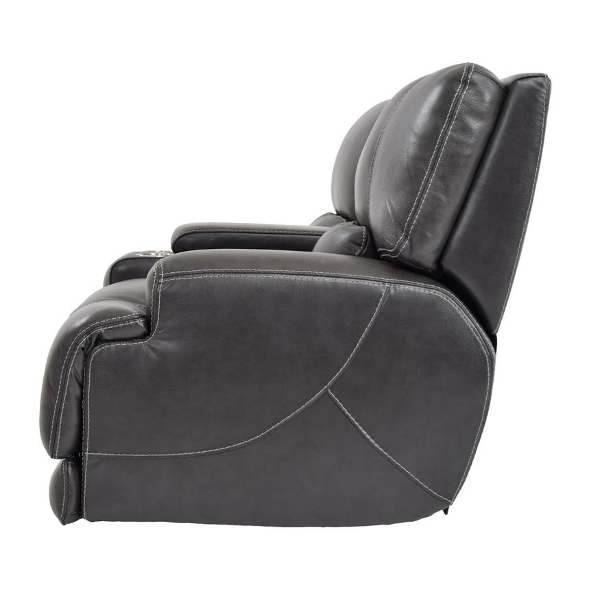 Cody Gray Power Motion Leather Loveseat w/Console  alternate image, 4 of 11 images.