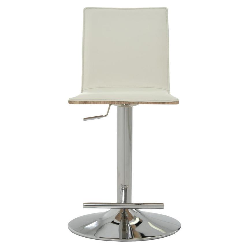 Solimar White Adjustable Stool  alternate image, 2 of 10 images.
