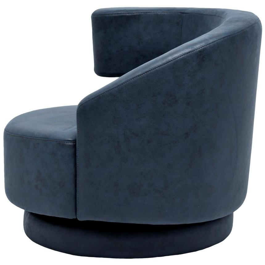 Okru Dark Blue Swivel Chair w/2 Pillows  alternate image, 4 of 10 images.