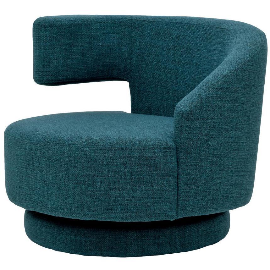 Excellent Okru Blue Swivel Chair W 2 Pillows Machost Co Dining Chair Design Ideas Machostcouk