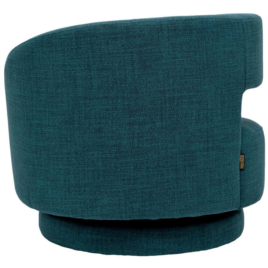 Okru Blue Swivel Chair w/2 Pillows  alternate image, 5 of 11 images.