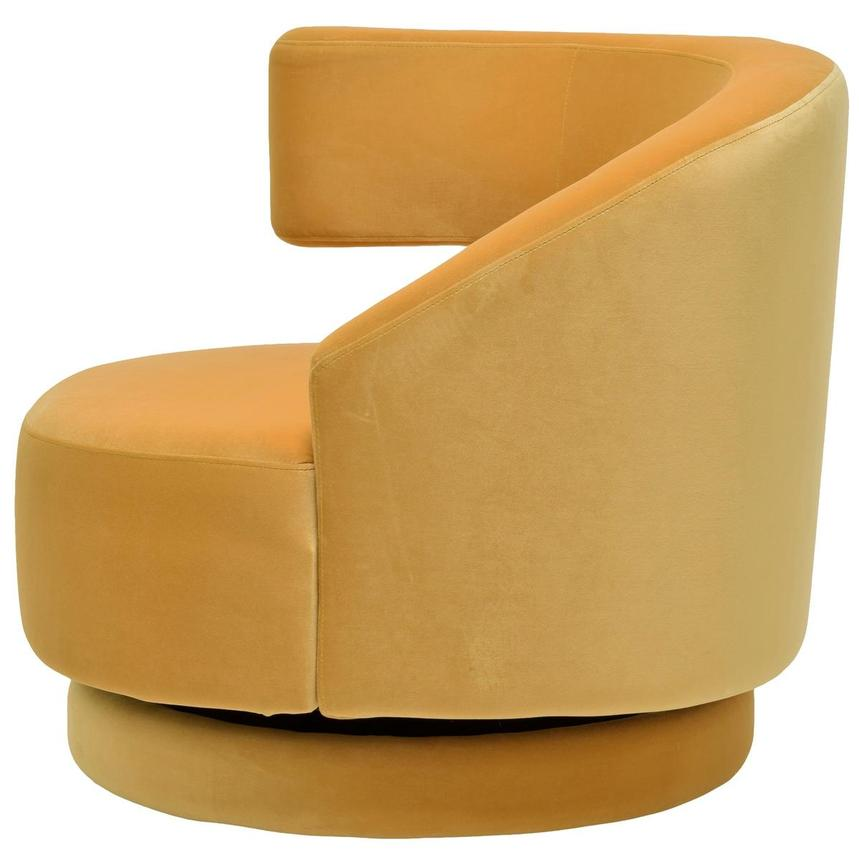 Okru Dark Yellow Swivel Chair w/2 Pillows  alternate image, 4 of 11 images.