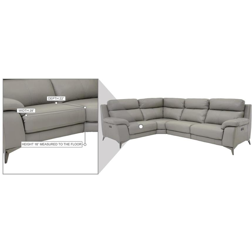 Barry Gray Leather Power Reclining Sectional  alternate image, 12 of 12 images.