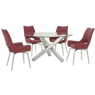 Addison/Kalia Red 5-Piece Formal Dining Set