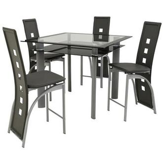 Dominoes Gray 5-Piece High Dining Set