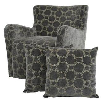 Everly Swivel Accent Chair w/2 Pillows