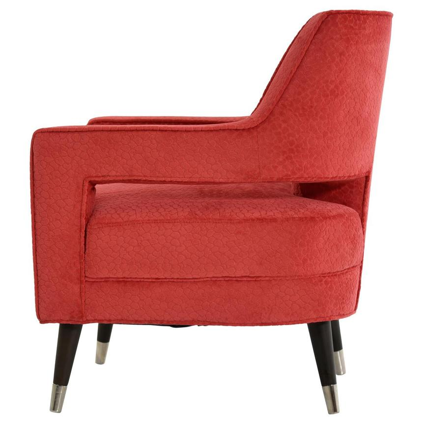 Brooke Red Accent Chair  alternate image, 3 of 6 images.