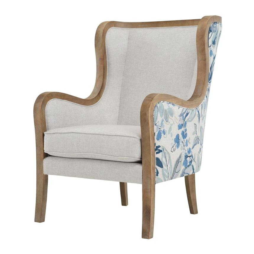 Scarlett Blue Accent Chair w/2 Pillows  alternate image, 4 of 12 images.