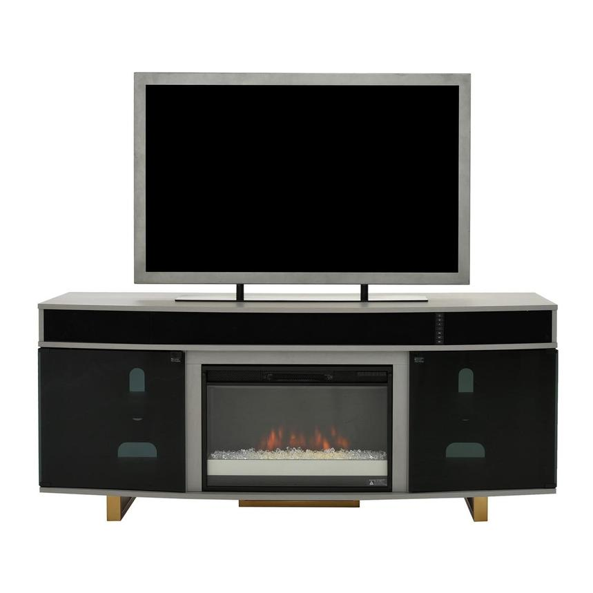 Enterprise Gray Electric Fireplace w/Speakers  main image, 1 of 8 images.