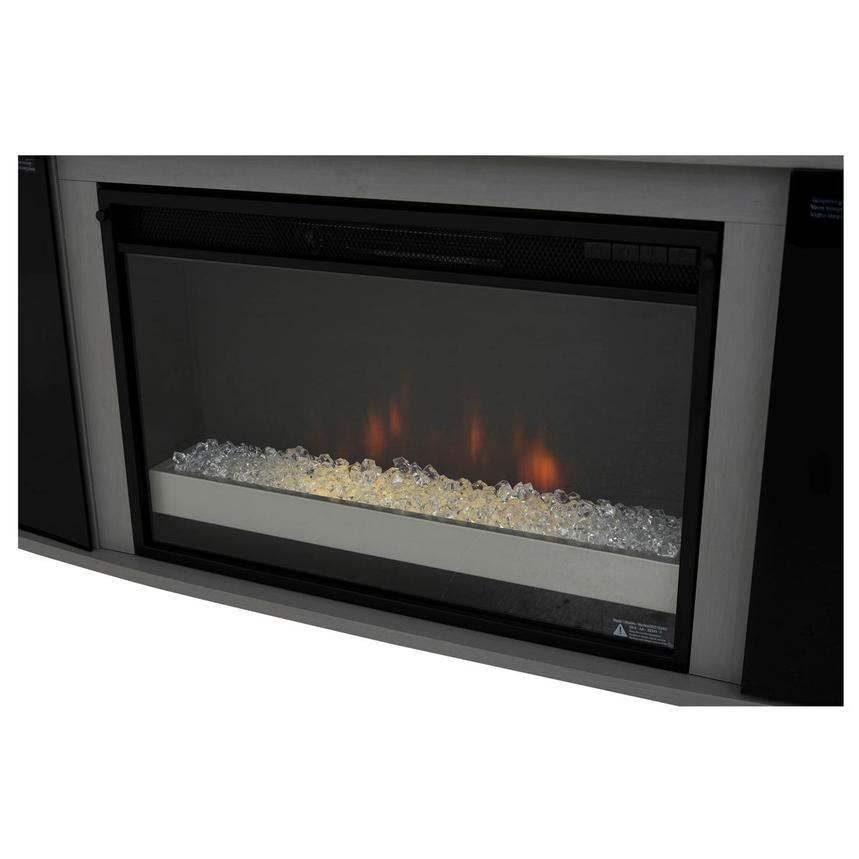Enterprise Gray Electric Fireplace w/Speakers  alternate image, 6 of 8 images.