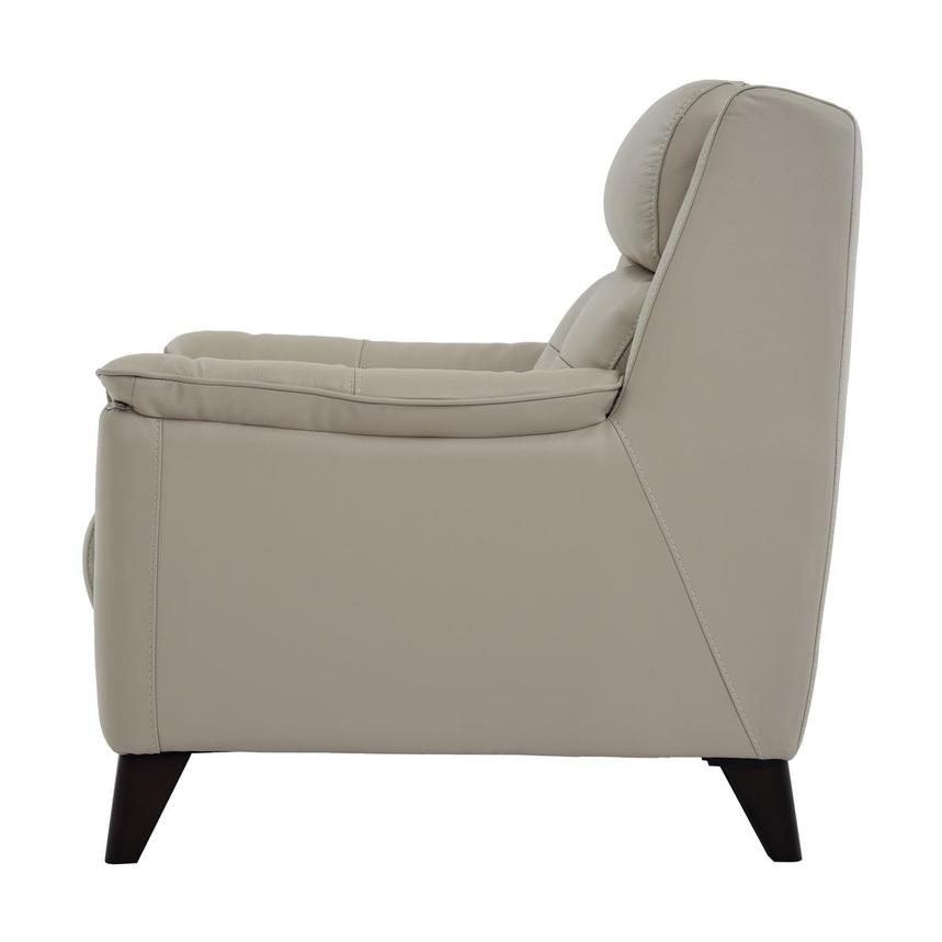 Mayte Cream Power Motion Leather Recliner  alternate image, 4 of 7 images.