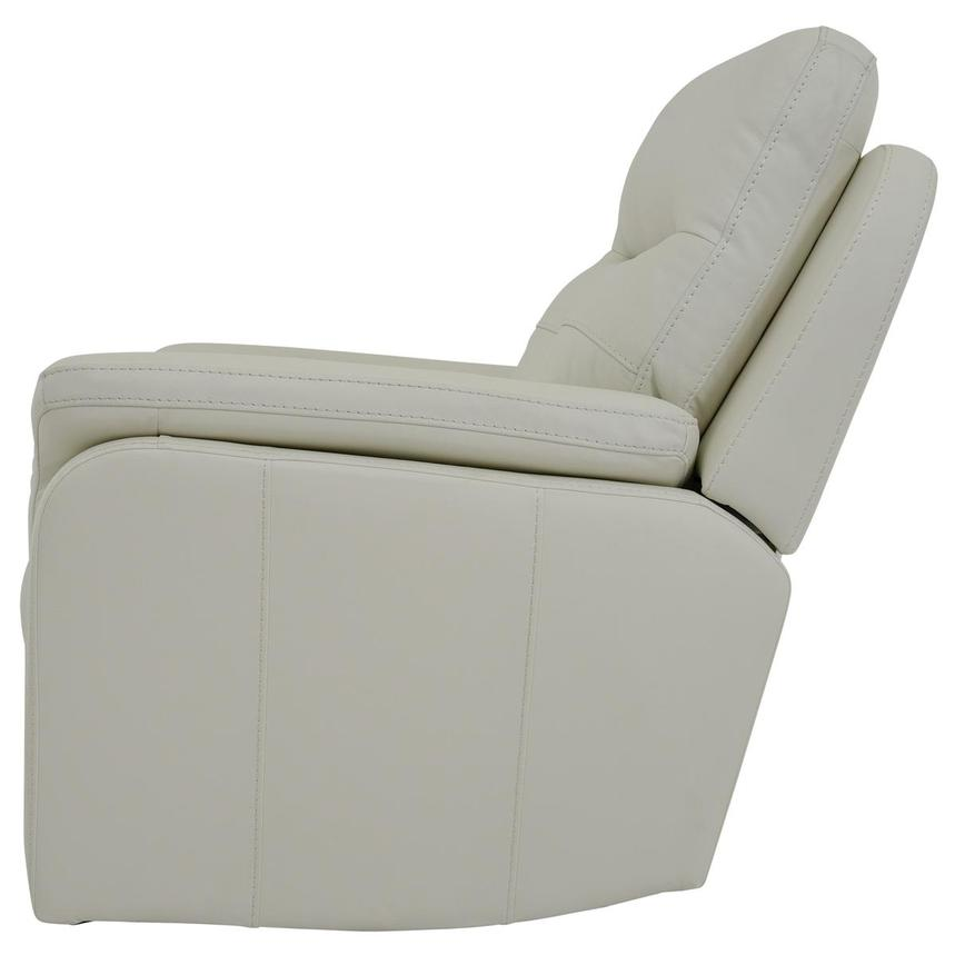 Zane Cream Power Motion Leather Recliner  alternate image, 4 of 9 images.