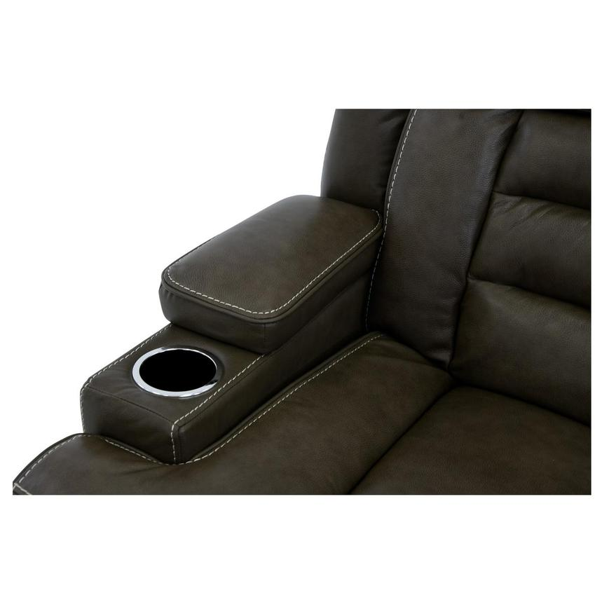 Damon Brown Leather Power Reclining Sofa  alternate image, 9 of 11 images.