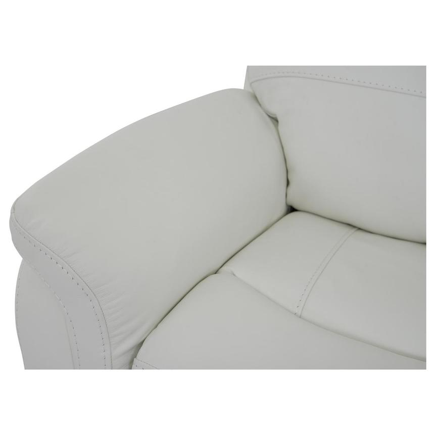 Zane Cream Power Motion Leather Sofa w/Console  alternate image, 8 of 10 images.