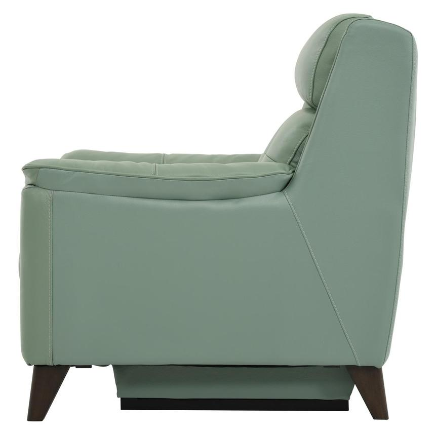 Mayte Green Power Motion Leather Recliner  alternate image, 4 of 8 images.