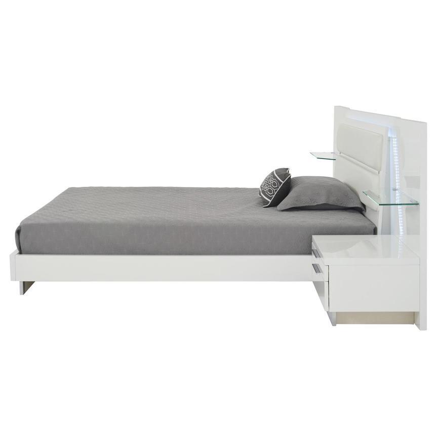 Ally white queen platform bed w nightstands el dorado - White queen platform bedroom set ...