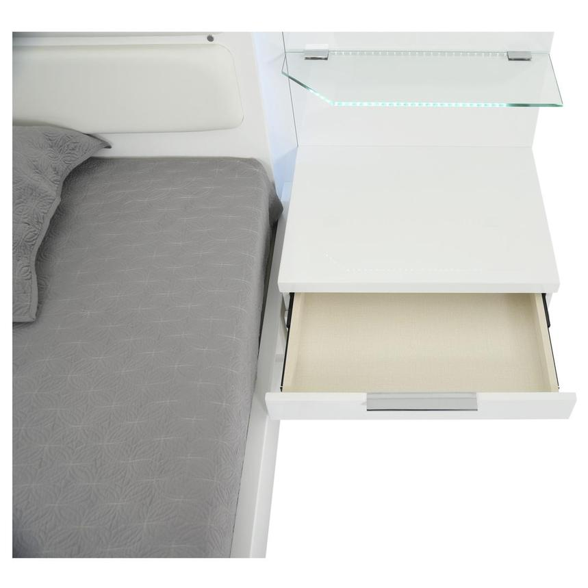 Ally White Queen Platform Bed w/Nightstands  alternate image, 8 of 18 images.