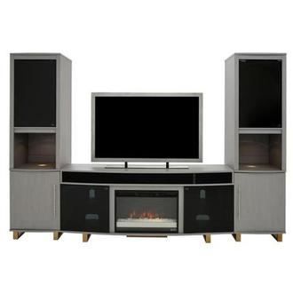 Enterprise Gray Wall Unit w/Speakers