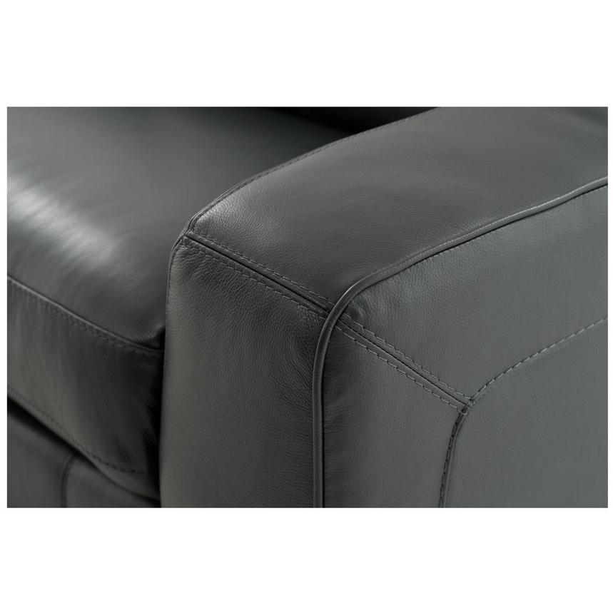 Jay Dark Gray Home Theater Leather Seating  alternate image, 8 of 10 images.