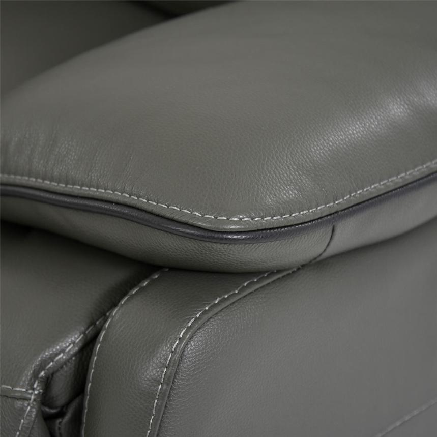 Austin Dark Gray Leather Power Reclining Sectional  alternate image, 8 of 11 images.
