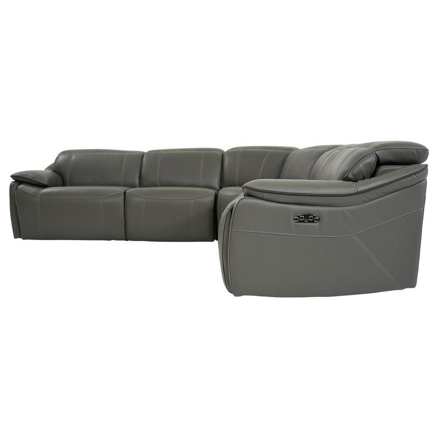 Prime Austin Dark Gray Leather Power Reclining Sectional Machost Co Dining Chair Design Ideas Machostcouk