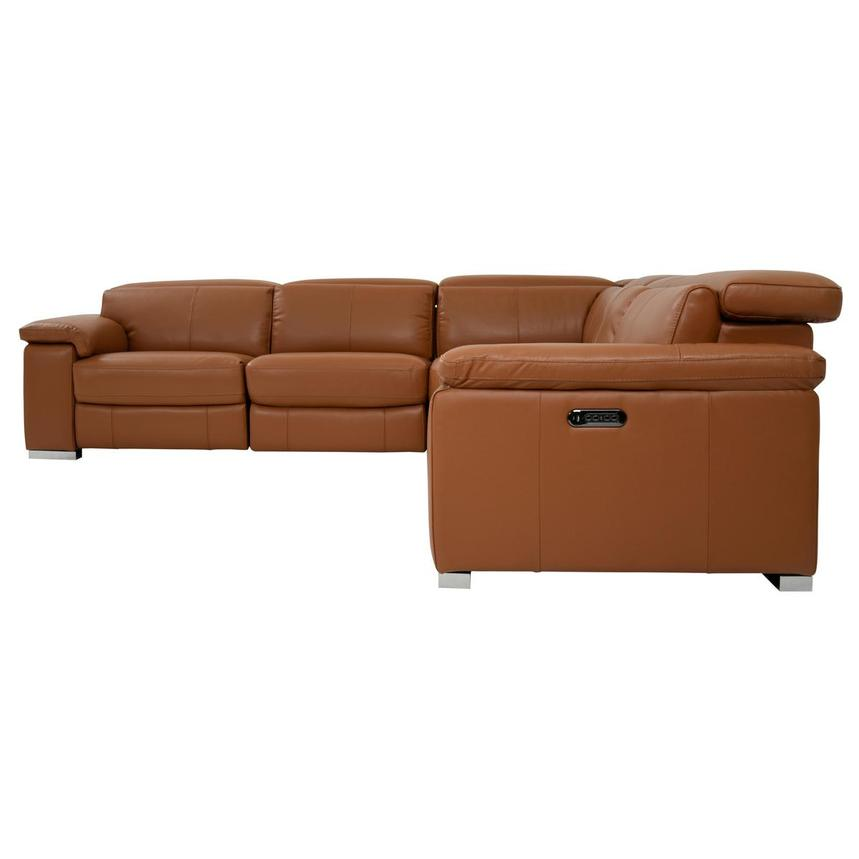 Charlie Tan Leather Power Reclining Sectional  alternate image, 3 of 9 images.