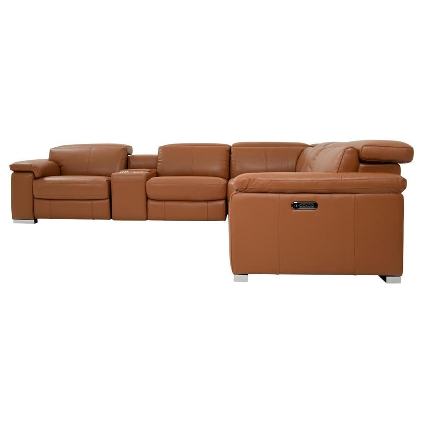 Charlie Tan Leather Power Reclining Sectional  alternate image, 3 of 10 images.
