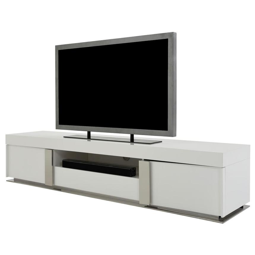 Grand Night White Gloss TV Stand w/Speakers  alternate image, 3 of 9 images.