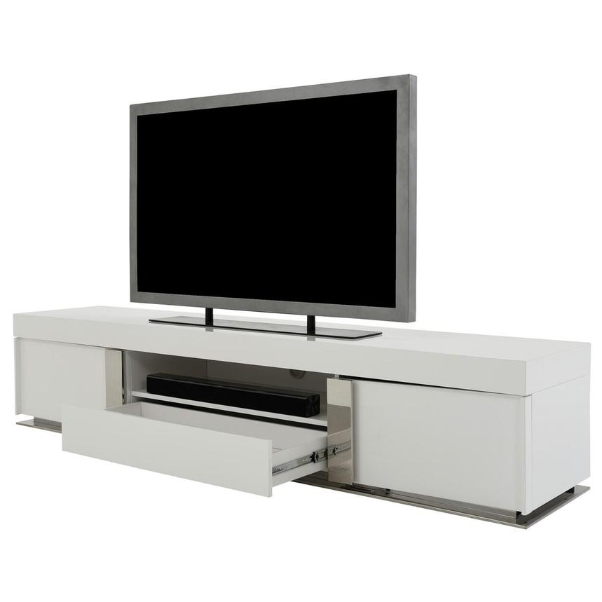 Grand Night White Gloss TV Stand w/Speakers  alternate image, 4 of 9 images.