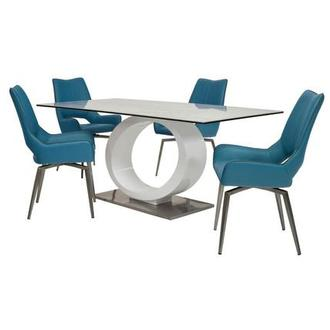 Fenti/Kalia Blue 5-Piece Formal Dining Set
