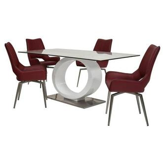 Fenti/Kalia Red 5-Piece Dining Set