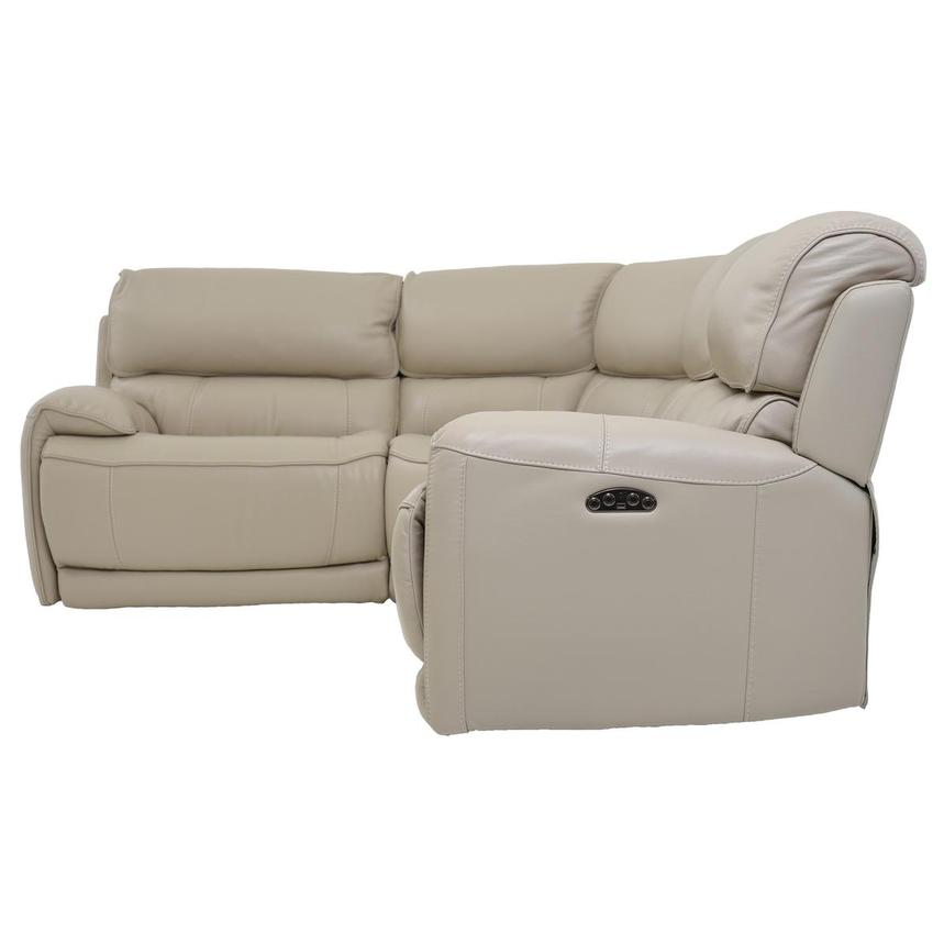 Cody Cream Leather Power Reclining Sectional  alternate image, 3 of 6 images.