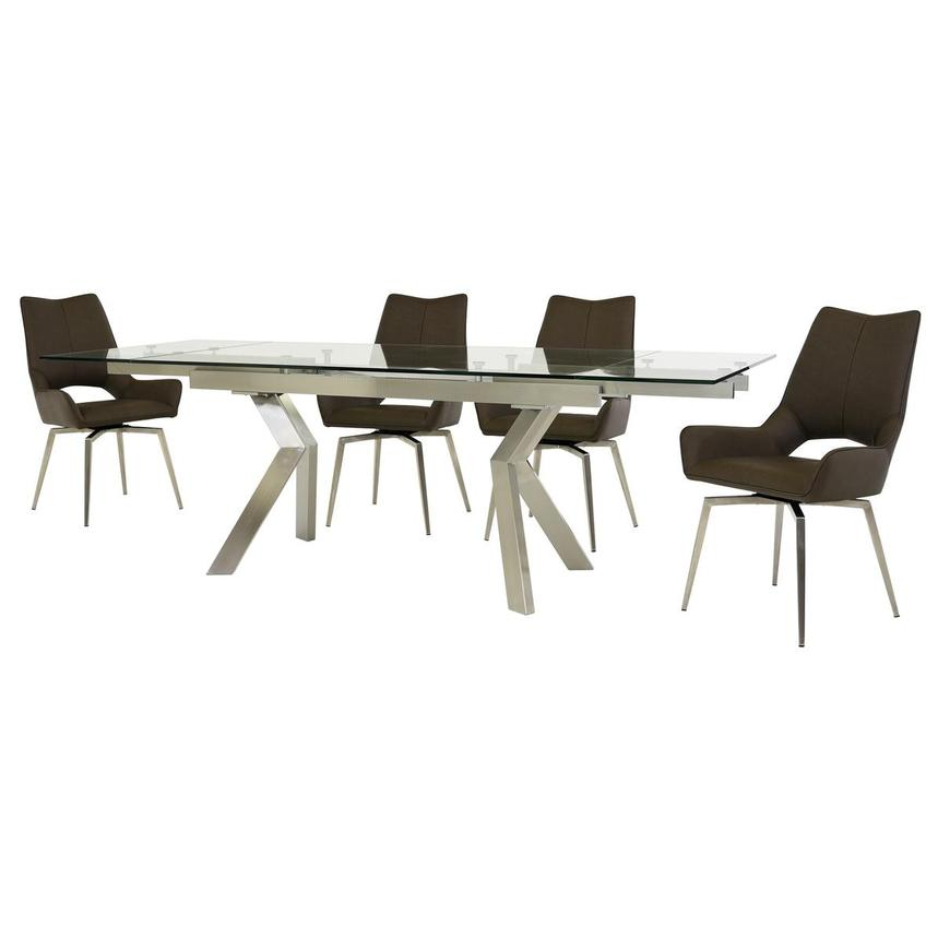 Lynne Clear/Kalia Brown 5-Piece Dining Set  alternate image, 2 of 14 images.