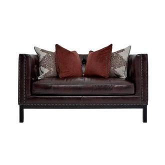 Sophia Brown Leather Loveseat
