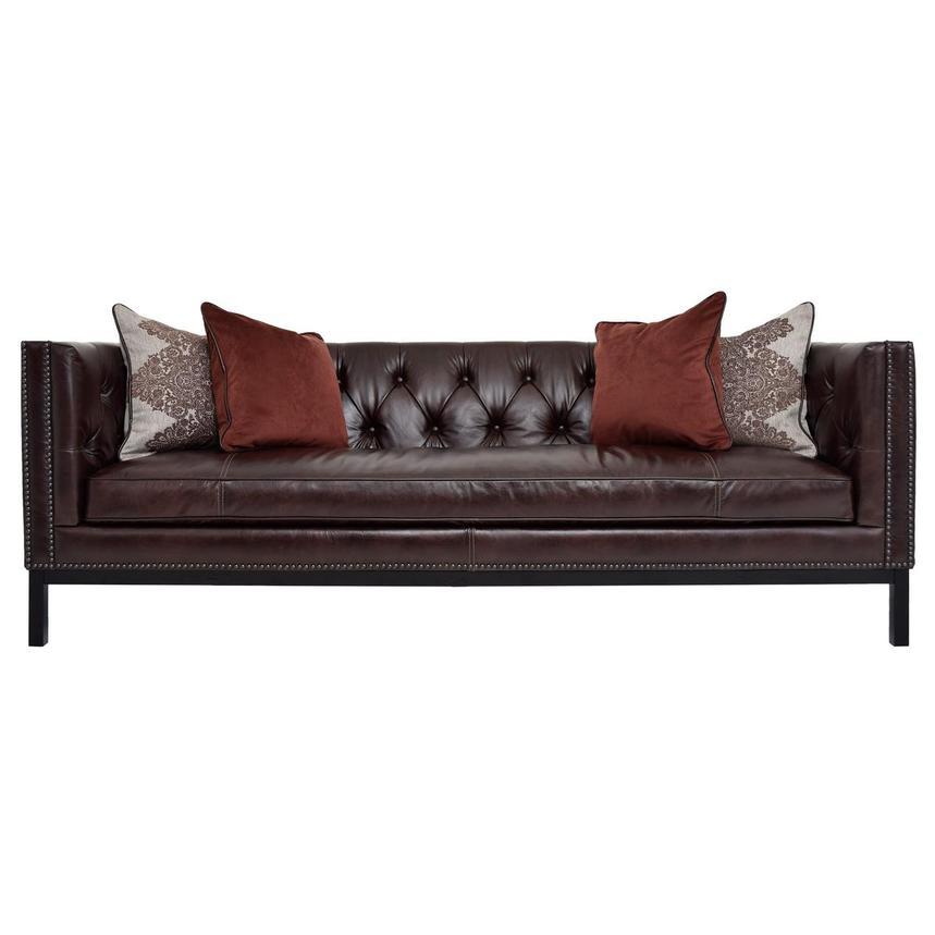 Sophia Brown Leather Sofa