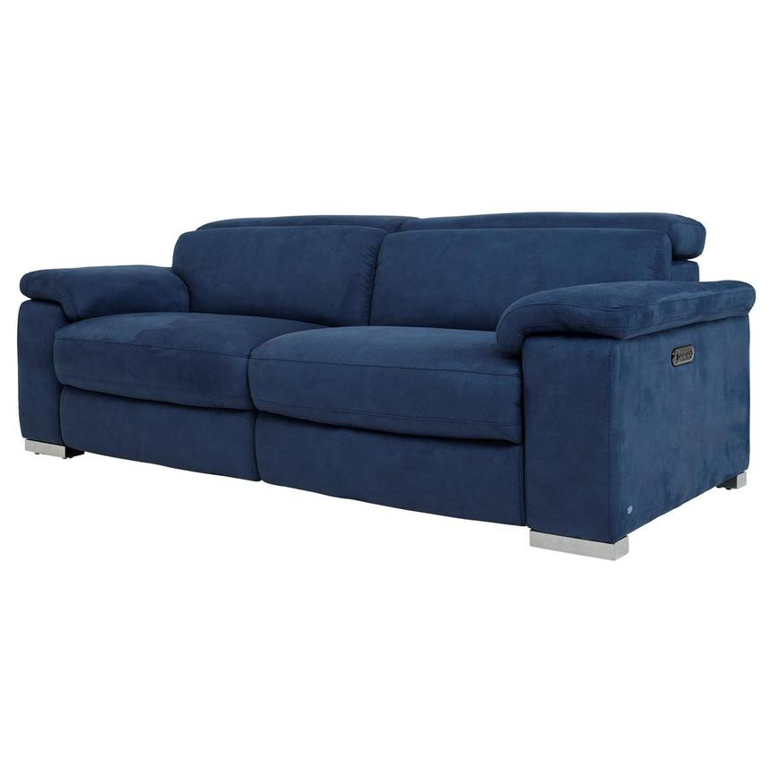 Karly Blue Power Reclining Sofa  alternate image, 3 of 11 images.