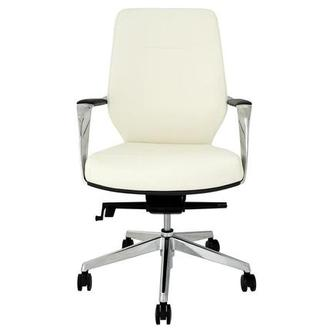 Yoshi White Low Back Desk Chair