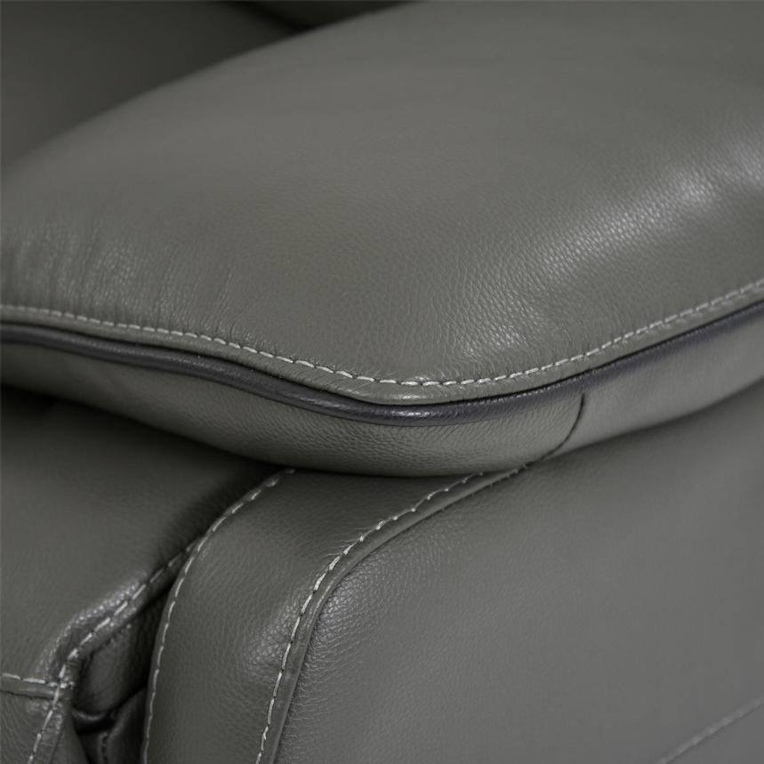 Austin Dark Gray Home Theater Leather Seating  alternate image, 8 of 11 images.