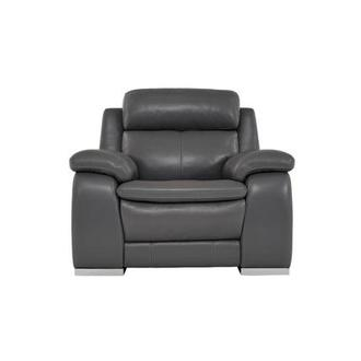Matteo Gray Leather Power Recliner