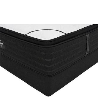 BRB-L-Class PTMS Full Mattress w/Low Foundation by Simmons Beautyrest Black