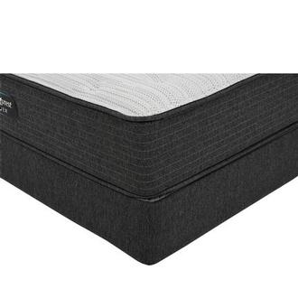 BRS900-TT-Plush Queen Mattress w/Low Foundation by Simmons Beautyrest Silver